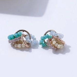 Small circle charm earrings